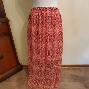 Faded glory NWT pink long skirt xl